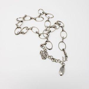 Silver Boho Rock Adjustable Chain Link Belt